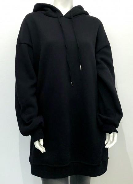 Sweater - Kleid - schwarz - Kapuze -