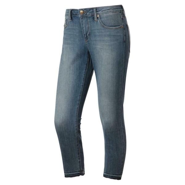 7/8 Jeans - used look - blau