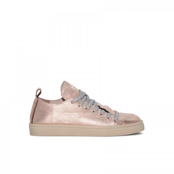 Sneaker - Leder - schimmernd - bronze - metallic