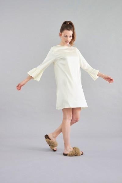 Kleid Viskose gelb