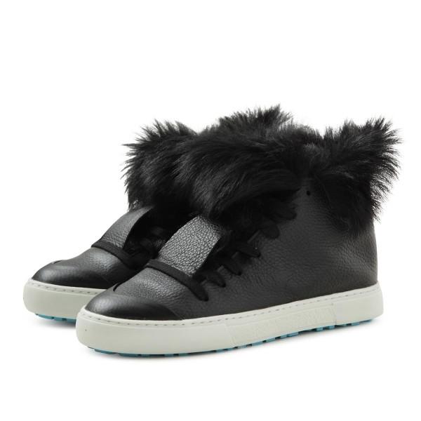 Ledersneaker-schwarz-Fellgefütter-hoch
