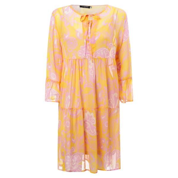 leichtes Sommerkleid orange-pink gemustert