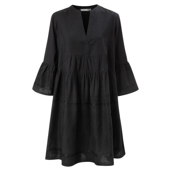 Short Dress black bestickt