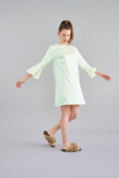 Kleid Viskose green