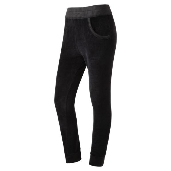 Jogginghose - schwarz - Samt- Homewear