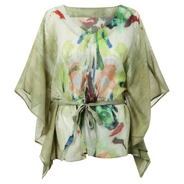Sommerbluse Batik grün