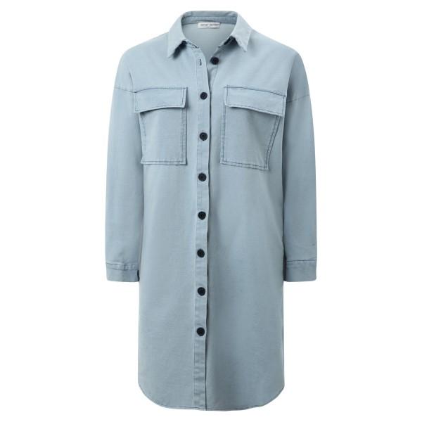 Longbluse Sweatshirtstoff blue Denim