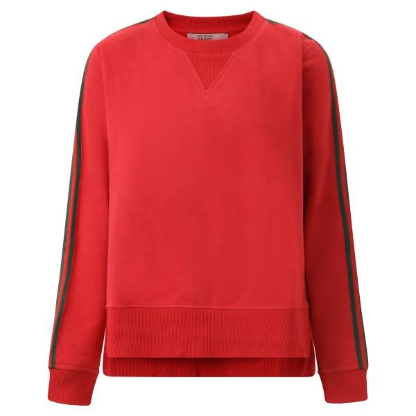 Sweatshirt Multistripe rot