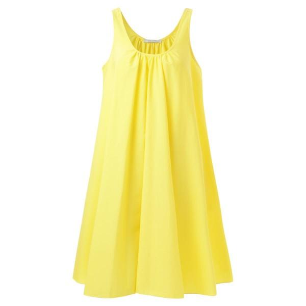 A-Linien Kleid gelb Träger kurz